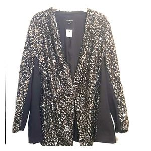 NWT Lane Bryant size 28 full sequin blazer!